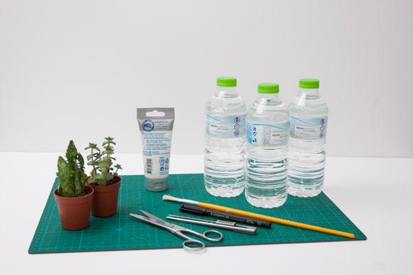 macetero flotante reciclado, materiales