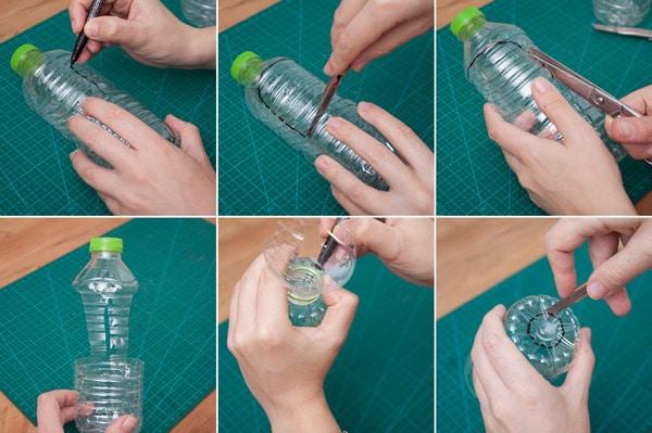 como hacer un macetero flotante reciclado paso a paso