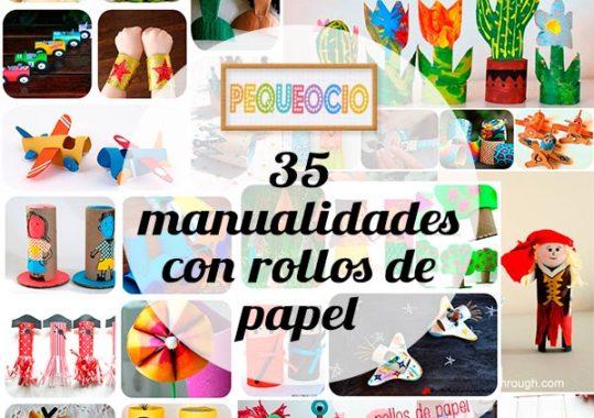 Manualidades con rollos de papel