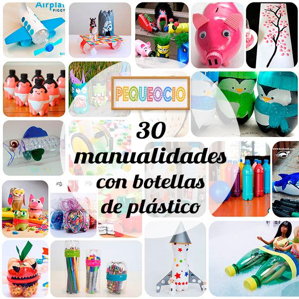 30 manualidades recicladas con botellas pequeocio for Adornos navidenos que pueden hacer los ninos