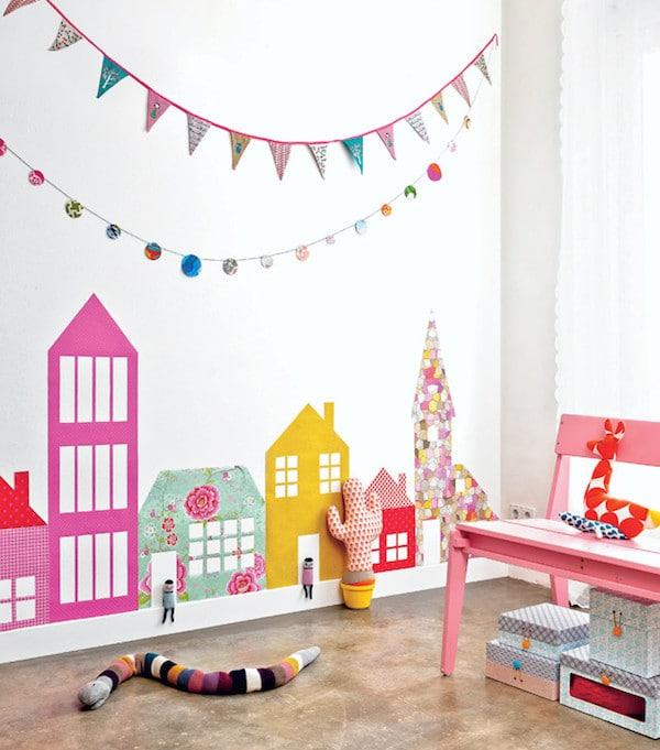 Papel pintado infantil 6 ideas creativas pequeocio for Papel decomural infantil
