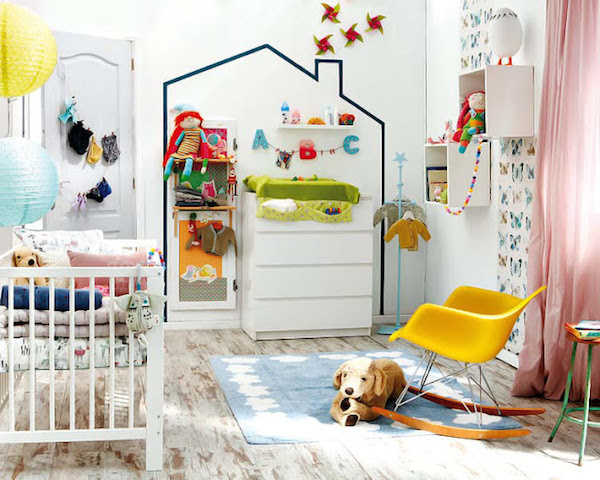 Habitaciones infantiles paredes con washi tape pequeocio for Cuartos de ninas feos