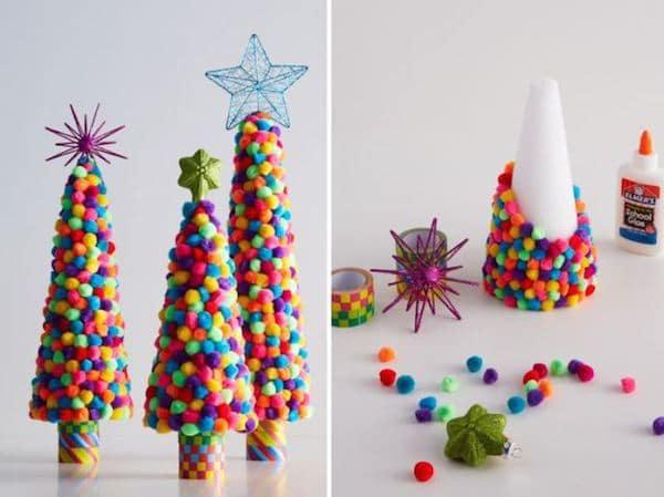 5 Arboles De Navidad Para Hacer Con Los Ninos Pequeociocom - Hacer-arboles-de-navidad