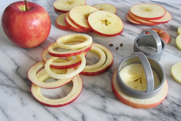 aros de manzana con canela