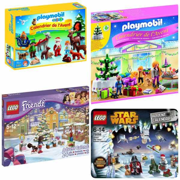 Calendarios de adviento con juguetes para niños
