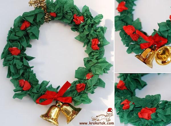 5 coronas de navidad para hacer con los ni os pequeocio - Cosas navidenas para hacer en casa faciles ...