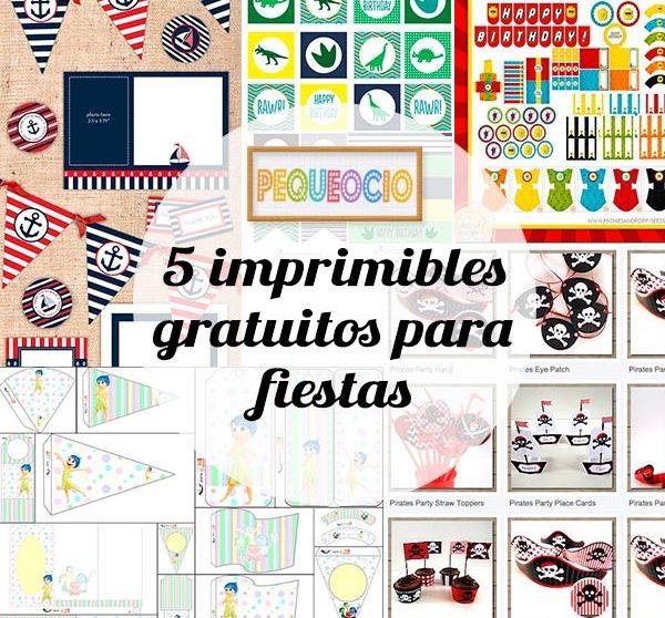 5 imprimibles gratis para fiestas infantiles | Pequeocio.com
