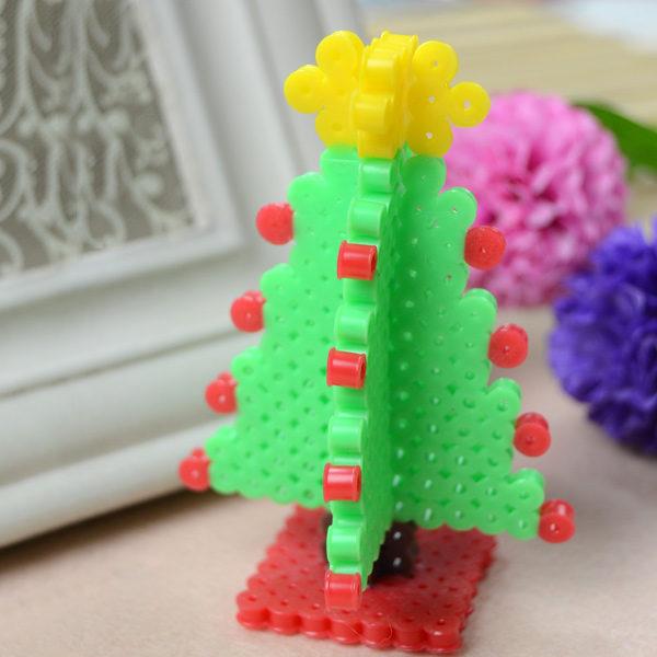 Adornos de navidad con hama beads pequeocio - Plantillas de adornos navidenos ...