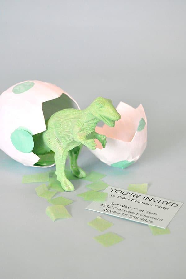 Manualidades con papel ¡huevos de dinosaurio! - Pequeocio