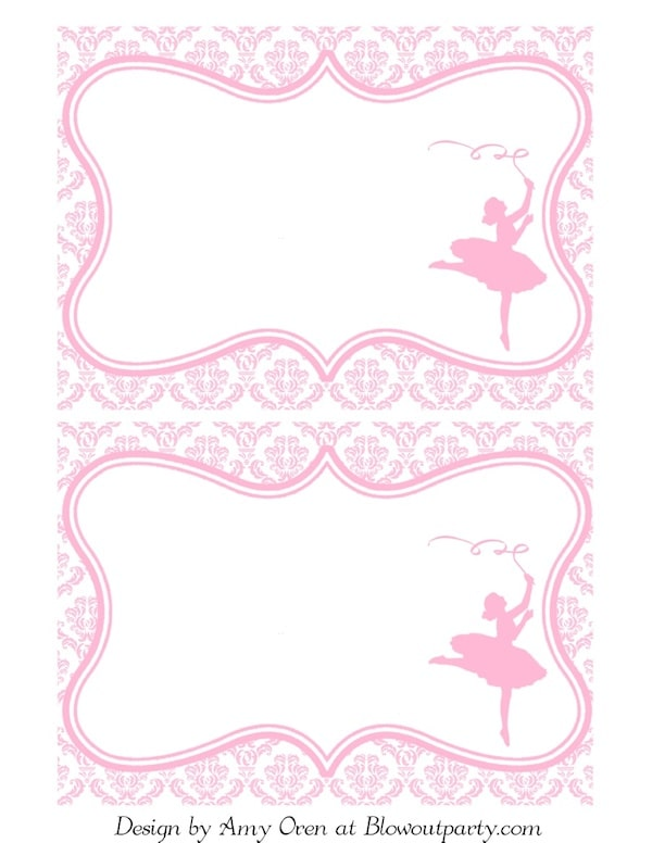Tutu Invitations is awesome invitations layout