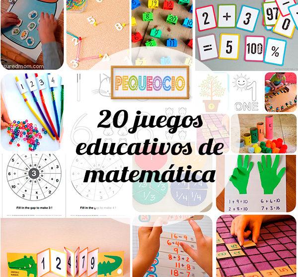 20 Juegos Educativos Para Aprender Matematicas Pequeocio Com