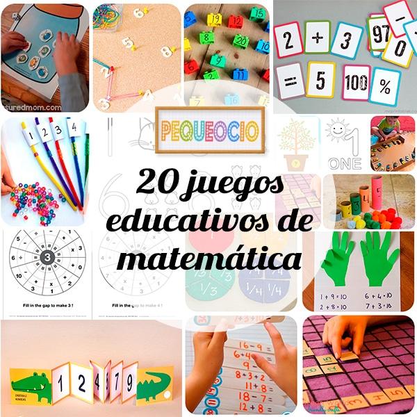 20 Juegos Educativos Para Aprender Matemáticas Pequeocio