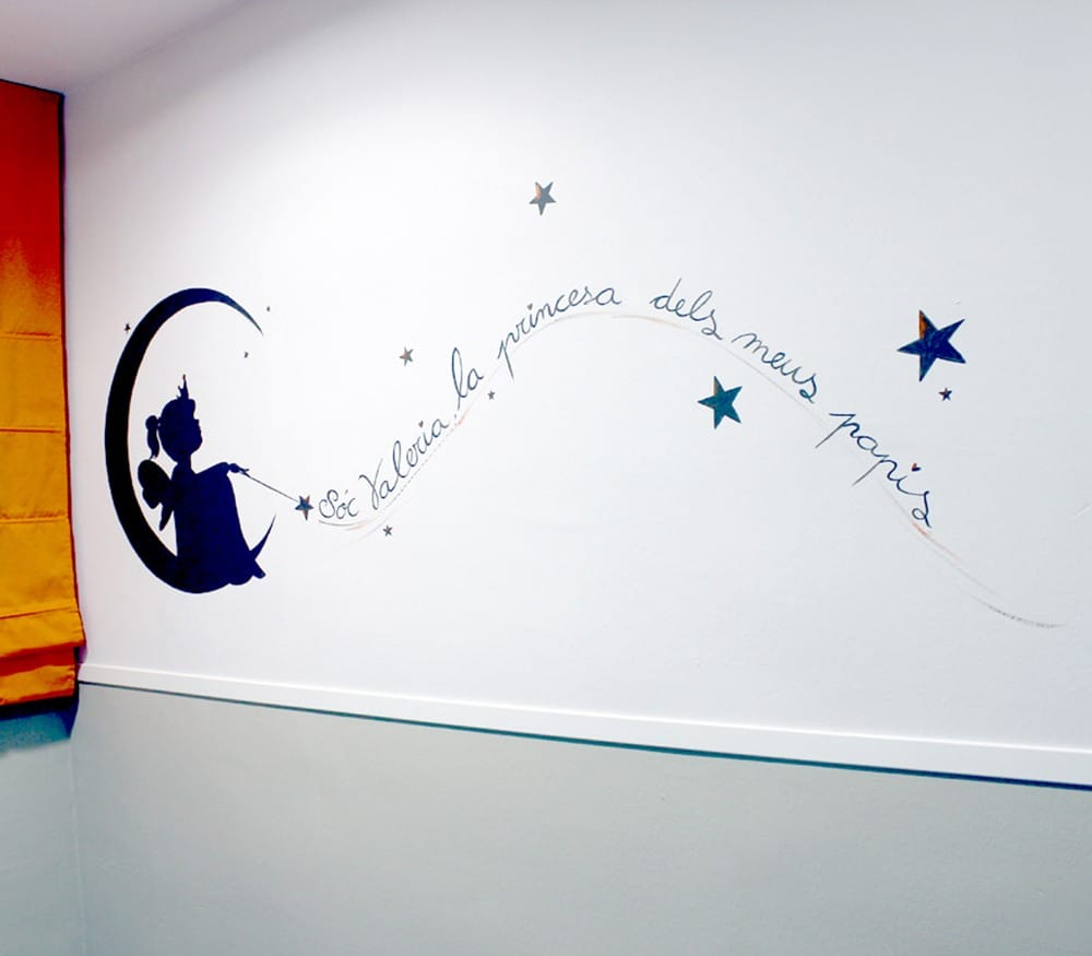 Murales infantiles con encanto pequeocio for Murales de tela para pared