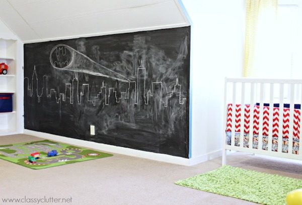 5 habitaciones infantiles con paredes de pizarra pequeocio - Pared de pizarra ...
