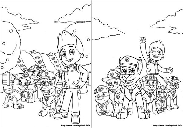 Patrulla Canina ¡dibujos para colorear! - Pequeocio