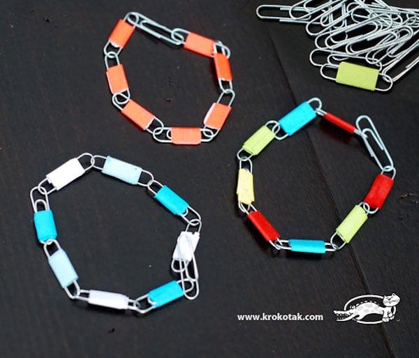 hacer pulseras con clips