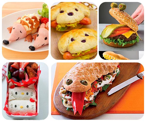 33 Sándwiches Divertidos Pequeociocom