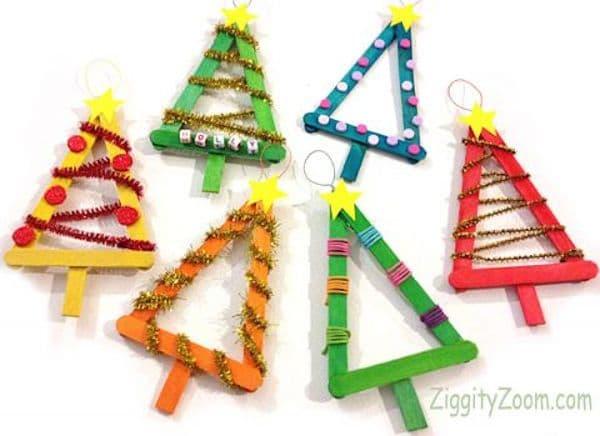 adornos de navidad rbol de palitos