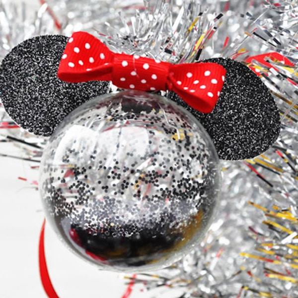 adornos de navidad bolas de minnie mouse