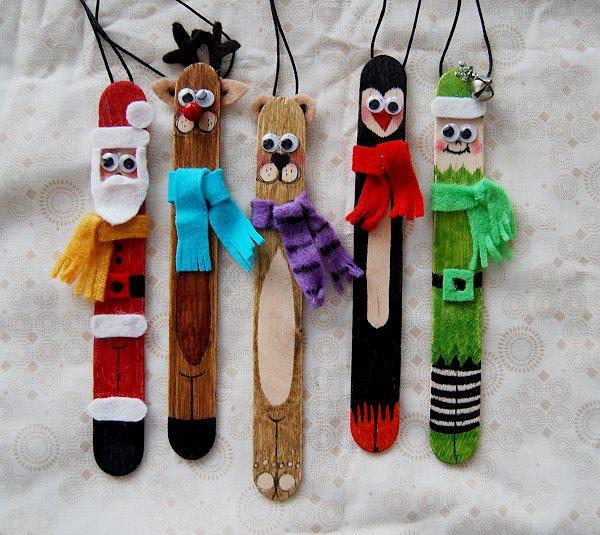 5 adornos de navidad con palitos de helado - Pequeocio navidad ...