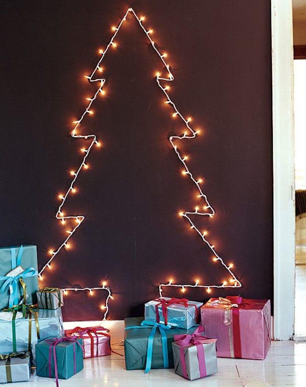 6 rboles de navidad para espacios peque os pequeocio - Arbol de navidad hecho de luces ...