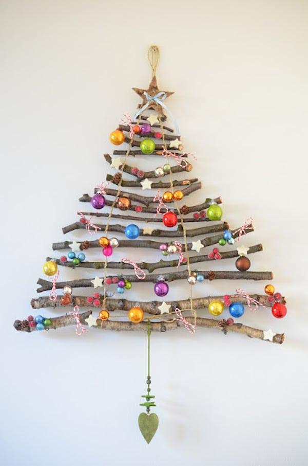 6 rboles de navidad para espacios peque os pequeocio for Arbol de navidad mural