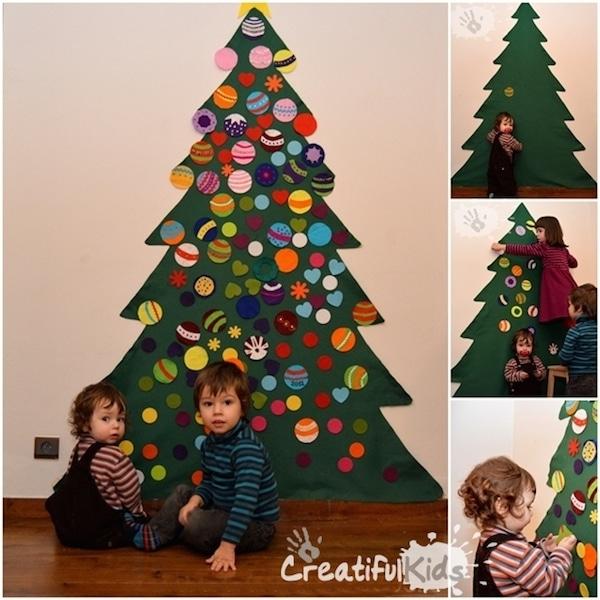 6 rboles de navidad para espacios peque os pequeocio - Arbol de navidad de fieltro ...