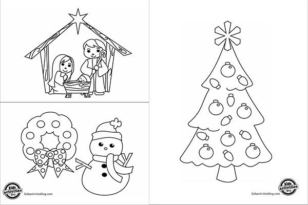 dibujos navide os para colorear pequeocio