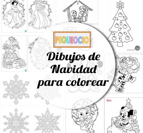 Dibujos Navideños Para Colorear Pequeociocom