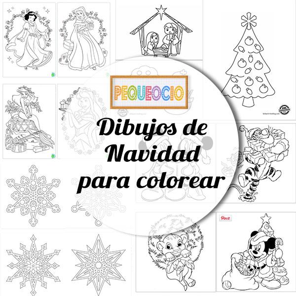 Dibujos navideños para colorear | Pequeocio.com