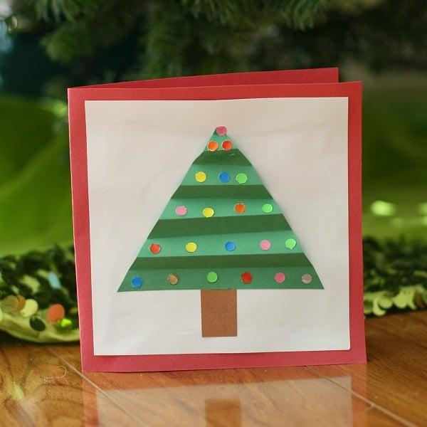 5 felicitaciones de navidad para hacer con los ni os - Manualidades de navidad para ninos pequenos ...