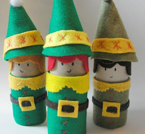 Manualidades Duendes De Navidad.Manualidades De Navidad Con Rollos De Papel Pequeocio Com