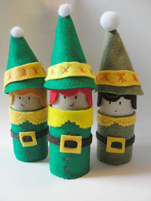 Manualidades de navidad con rollos de papel pequeocio - Pequeocio navidad ...