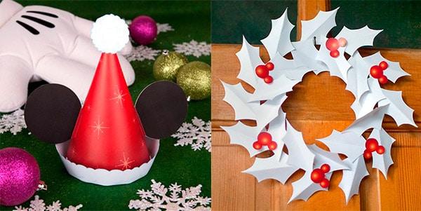 Recortables navideños de Disney