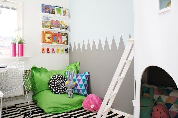 Ideas para pintar paredes infantiles pequeocio - Aprender a pintar paredes ...