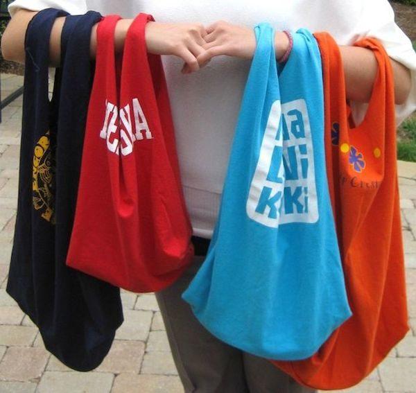 Manualidades recicladas con camisetas