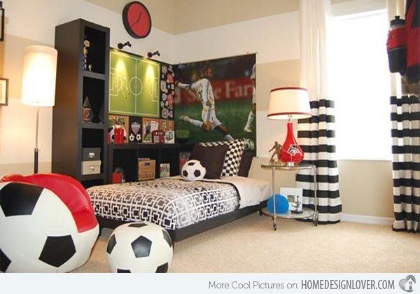 7 habitaciones infantiles para peques deportistas pequeocio for Cuartos de ninas feos