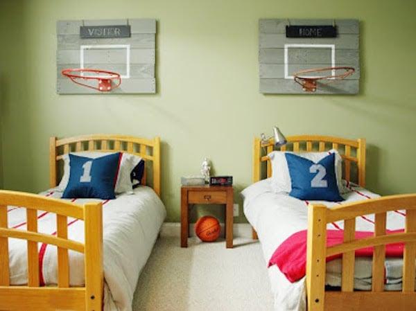 7 habitaciones infantiles para peques deportistas pequeocio - Habitaciones infantiles compartidas ...