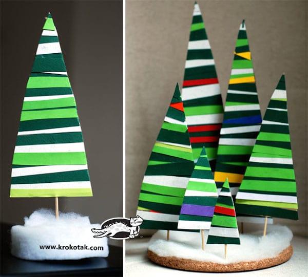 centros de mesa de navidad rboles de papel