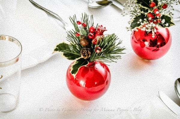 Centros de mesa para navidad originales for Mesa de navidad elegante