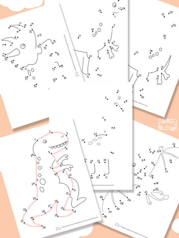 Dibujos para unir puntos