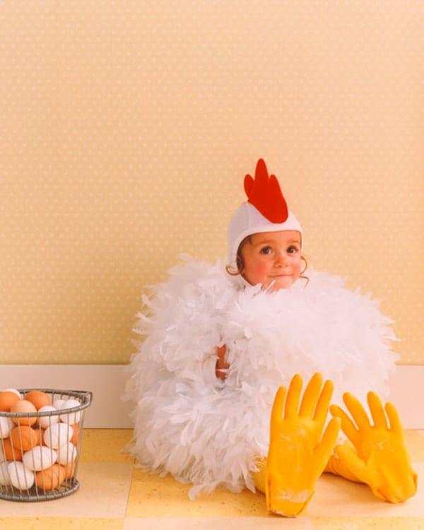 Disfraz para bebes de gallina hecho en casa