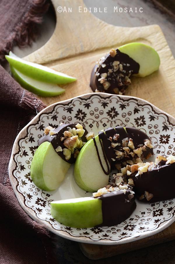 Fruta con chocolate