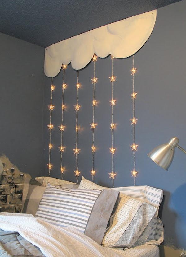 decorar con guirnaldas de luces estrellas - Guirnaldas De Luces