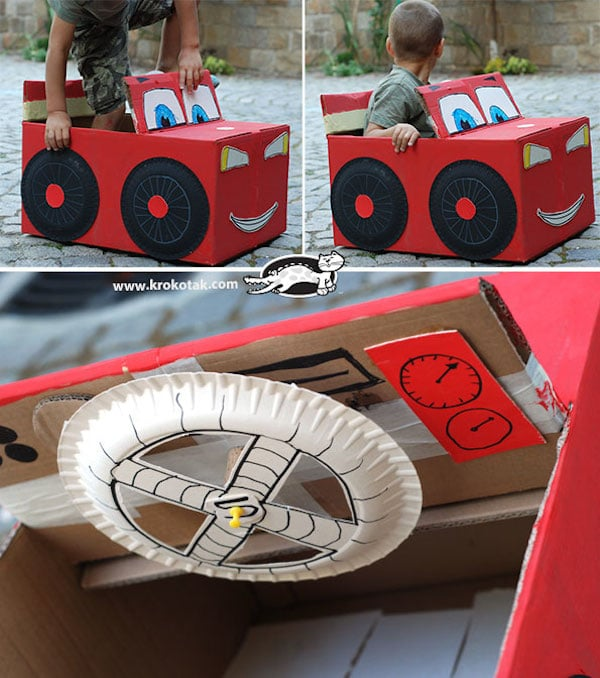 Cardboard Car Parts To Make It