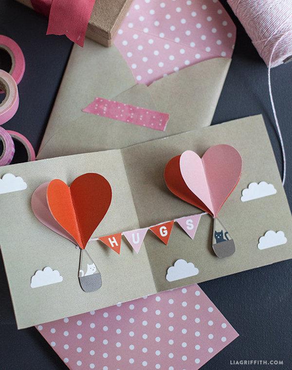 5 tarjetas de san valent n pequeocio for Decoracion de pared para san valentin