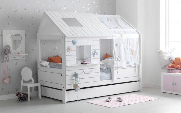 Camas infantiles en forma de casita pequeocio - Dosel para cama infantil ...