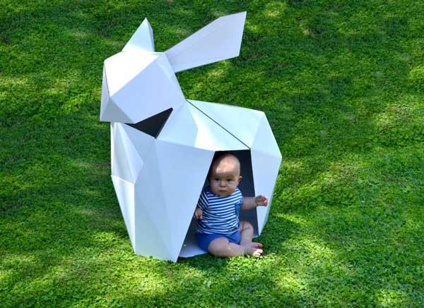 casitas infantiles de carton