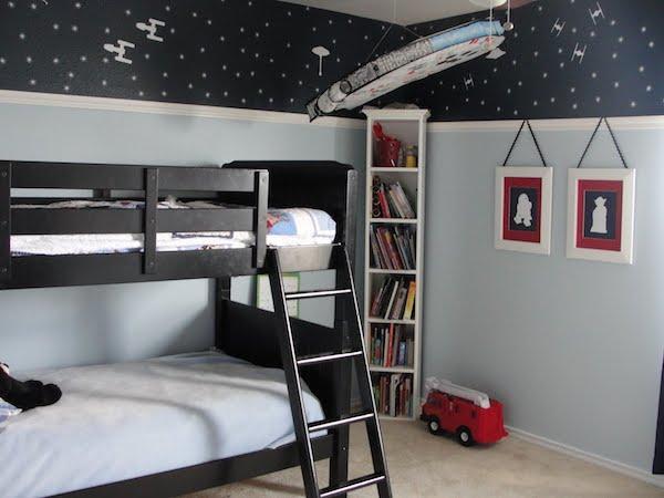 habitaciones infantiles de star wars pequeocio