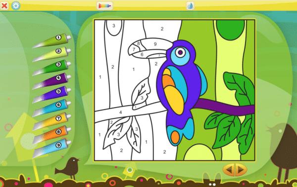 Aplicaciones infantiles para colorear por números